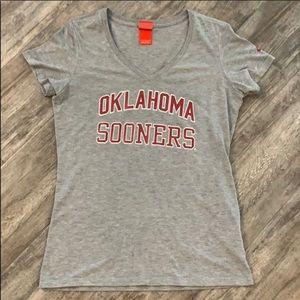 University of Oklahoma Nike V-Neck Sz L